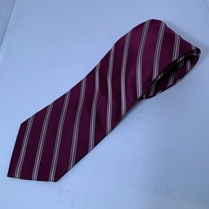 Preowned Men's DKNY Tie - Maroon - Stripped